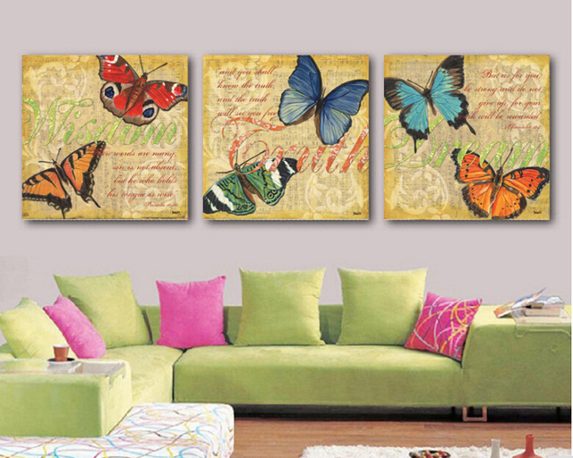 Framed High quality Modern Butterfly Wall art Canvas Prints Picture ...
