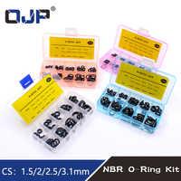 Grosor 1,5/2/2,5/3/1,8/2,65mm O anillos de goma O sello de anillo NBR de O-anillos de nitrilo lavadora o-anillo surtido conjunto Kit de caja