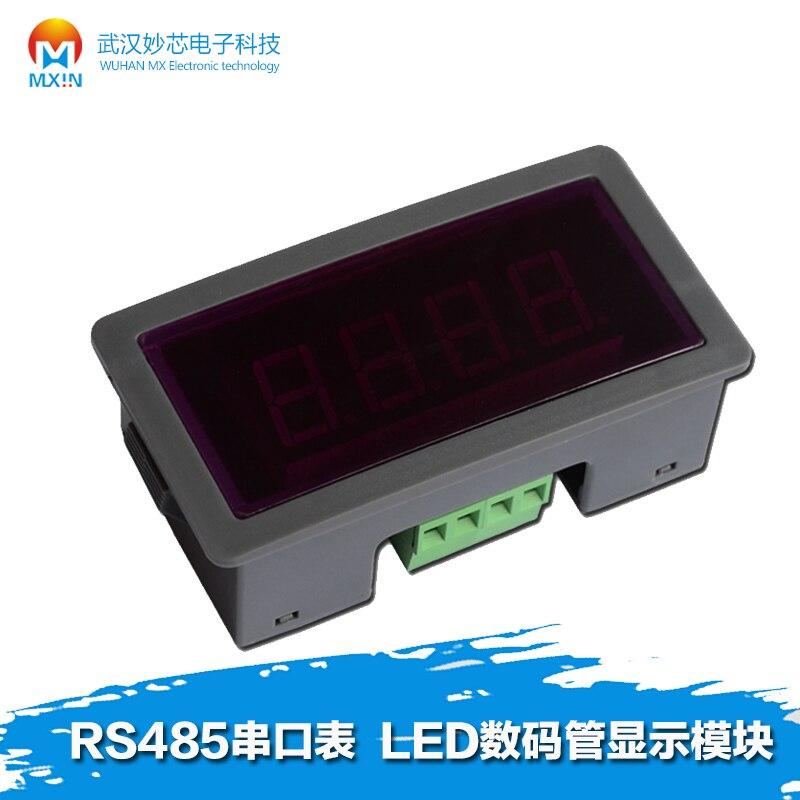 Free Shipping   RS485 Serial Table LED Digital Display Module PLC Communication MODBUS-RTU/ASC 485
