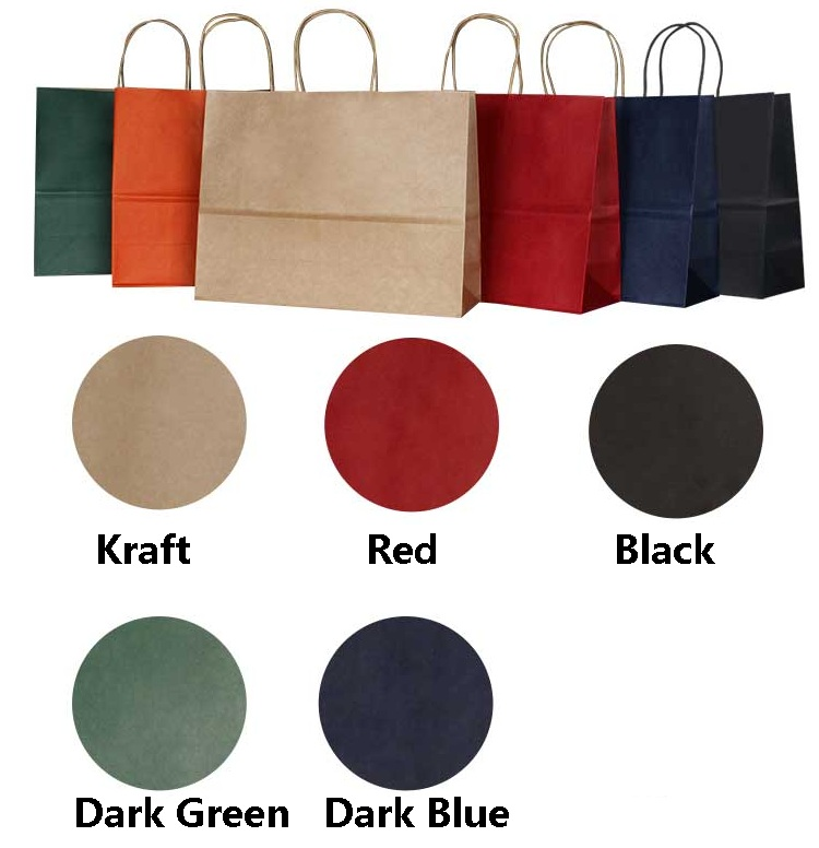 10PCS Kraft Gift Paper Bag With Handle 33X25X12CM / Horizontal Multifunction Wedding Party Bag/Fashionable Cloth  Shoes  Bags