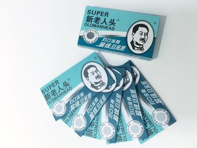 100Pcs OLDMANHEAD  SuperSharp RazorBlades Stainless blades men's Shaving Sharper Thinning Knife Superplatinum  Double Edge Blade