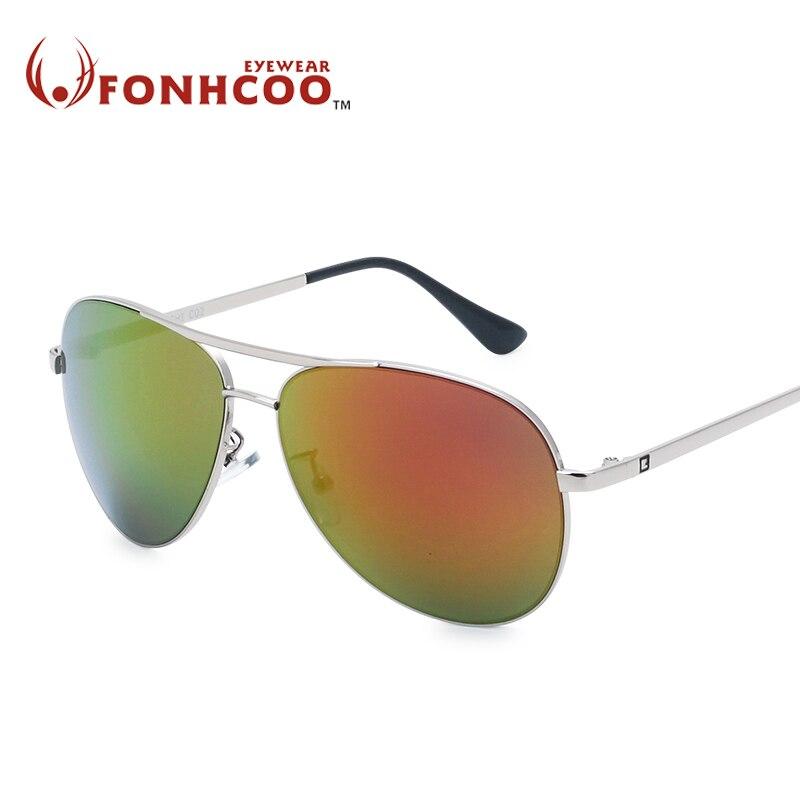 Women's Glasses Logical 2018 Fonhcoo New Fashion Retro Luxury Brilliant Brand Designer Metal Sunglasses Men Uv400 Hot Rays Protect Oculos Gafas De Sol Vivid And Great In Style Women's Sunglasses