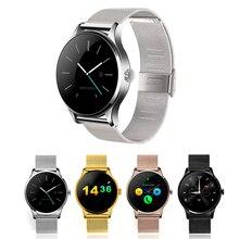 K88H Reloj Inteligente 1.22 Pulgadas IPS Soporte de Pantalla Redonda Deporte Pulsómetro Bluetooth SmartWatch teléfono IOS Android pk kw88 GT08
