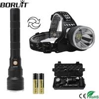 BORUiT XPH50.2 LED Headlamp 3 Mode USB Charer Headlight Can be Conversion as a Flashlight Camping Night Fishing Head Torch