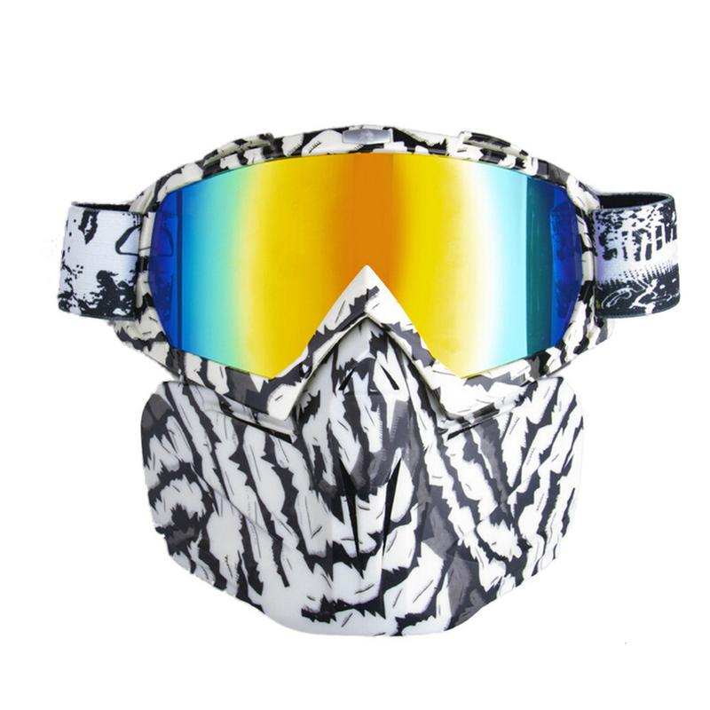 Men Women Ski Snowboard Snowmobile Goggles Face Mask Snow Winter Skiing Ski Glasses Motorcycle Riding Sunglasses Cycling Glasses