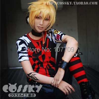 Vocaloid Kagamine Len Kagamine Rin Halloween Christmas Men And Women Cos Anime Cosplay Costume Lederhosen T shirt-in Anime Costumes from Novelty & Special Use    1