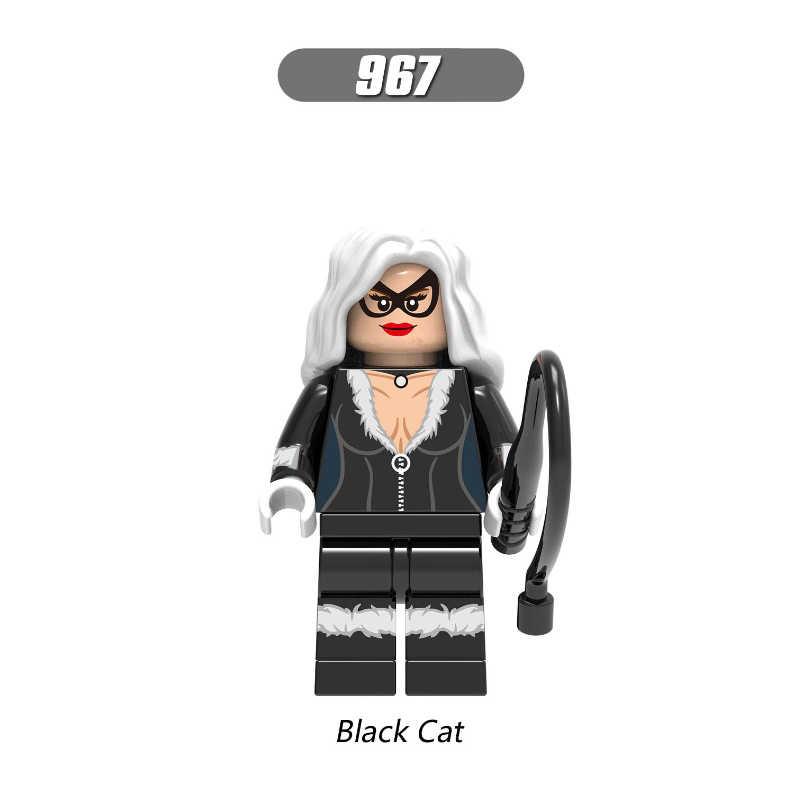 Venom Spider-Man Figura Gato Preto Hydro-Homem Camaleão Morbius Choque Marvel Super Hero Building Blocks Set Modelo brinquedos