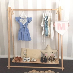 INS Nordic Style Wooden Shoes Shelves Baby Room Decorative Floating Shelf Hanging Shoe Racks Children Kids Room Decor Organizer