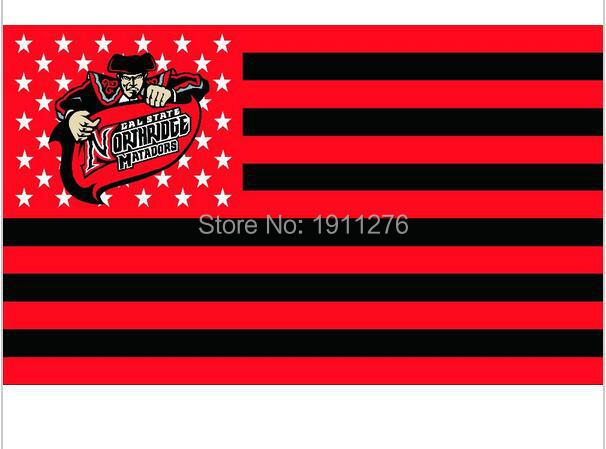 Cal State Northridge Matadors Flag 90x150cm metal grommets NCAA flag in hot sell 3x5 ft