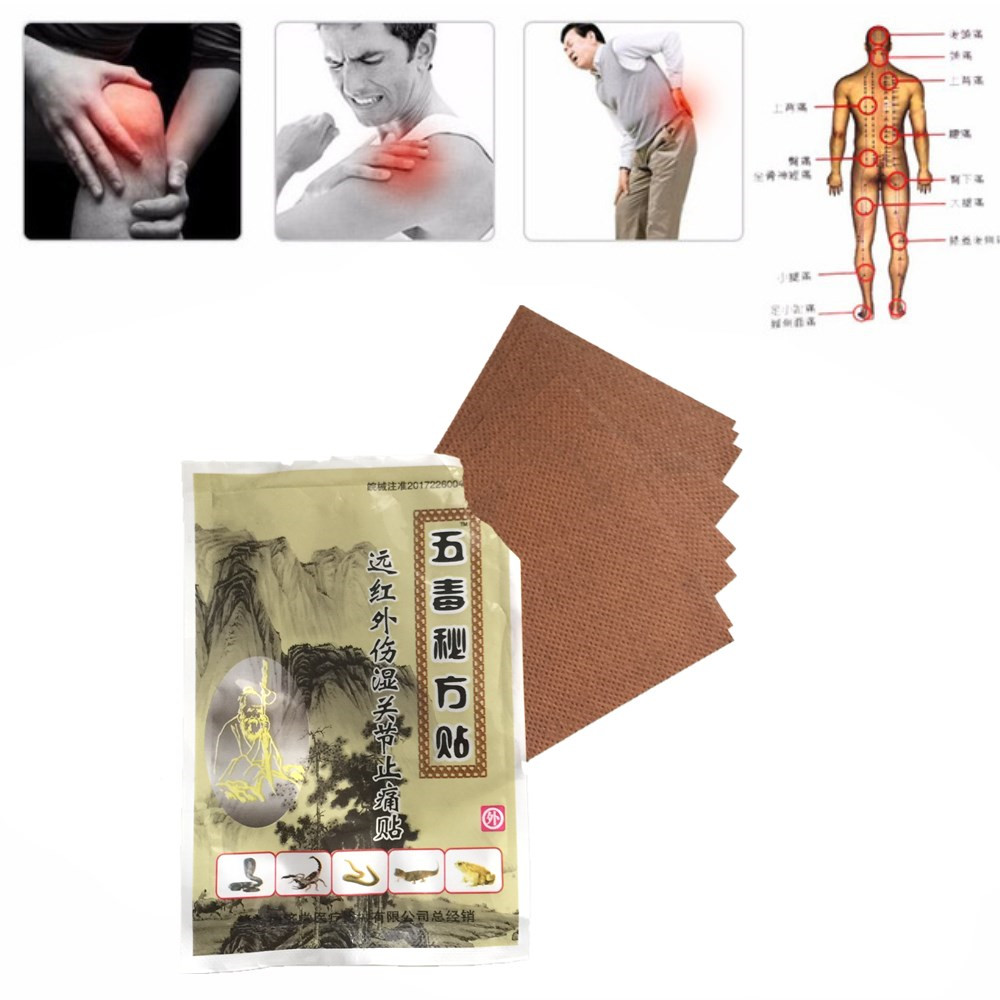 2018 New Type 8 pieces MIYUELENI Lizard venom Pain relief orthopedic plasters analgesic patches Body Massage Essential oil image