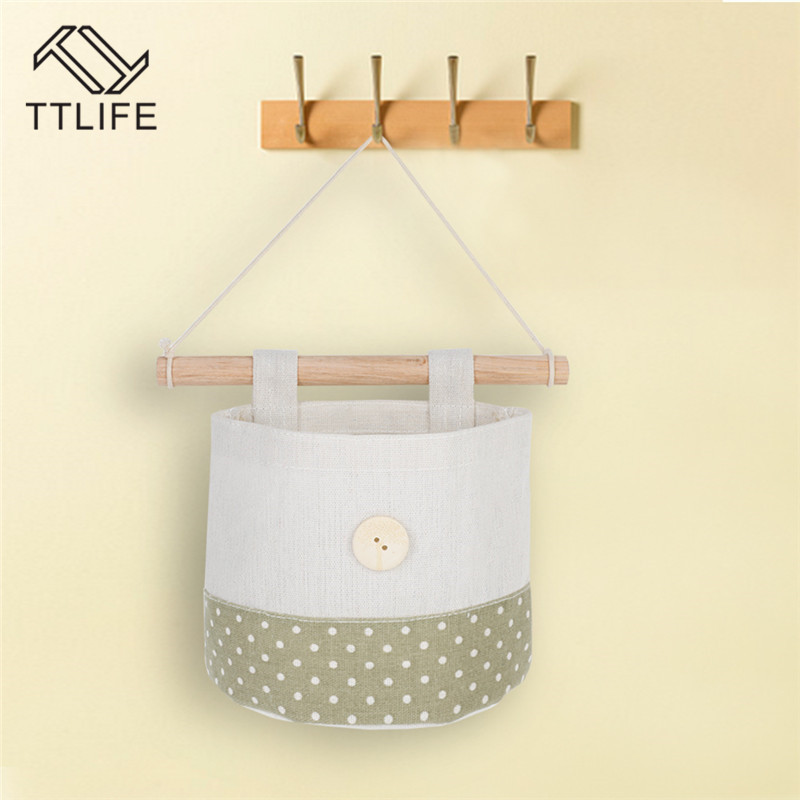 TTLIFE Cotton And Linen Storage Hanging Bag Wall Cloth Dormitory Door Bags Useful Practical Deco New