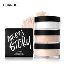 UCANBE Make Up Primer Loose Powder with Puff Setting Powder Poudre Libre Oil-control Finishing Powder Matte Banana Powder
