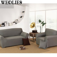 Grey Chair Loveseat Sofa Couch Stretch Protector Cover Slipcover 1 2 3 4 Couch Stretch Protect