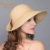 Señora Nuevo Sombrero de Paja de Verano Femenino Recorrido Sol Tapa Previene toma el sol Ala ancha Plegable Aleros Gorra para el Sol Chicas Fuera Ocio Sombrero B-4867
