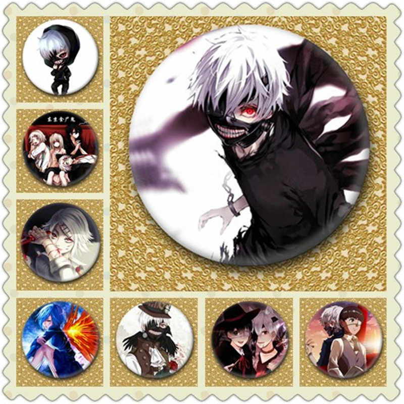 1 pcs 50mm Japan Anime Tokyo Ghoul Brooch Pins Pins Cosplay Badge Kaneki Ken Badge Accessories For Clothes Backpack Decoration