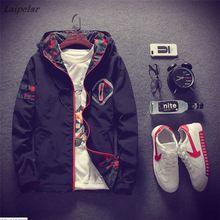 купить anorak jacket windbreaker men jaqueta masculina zipper patchwork waterproof jackets streetwear autumn bomber jacket 5XL Laipelar по цене 1101.28 рублей