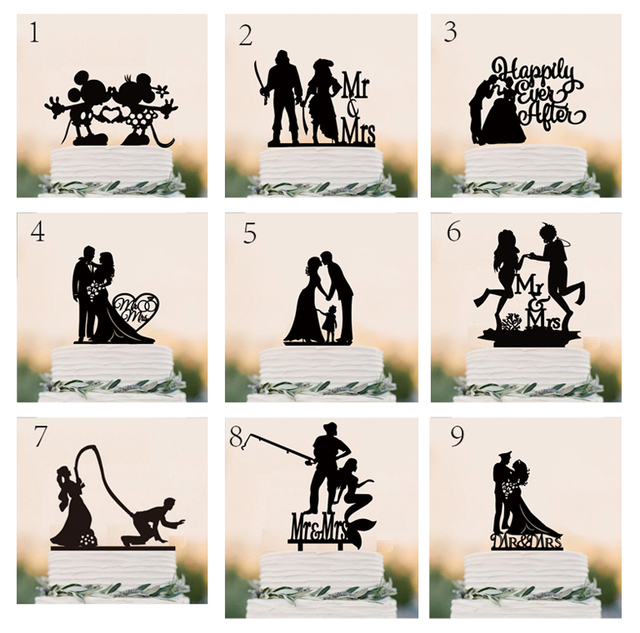 Wedding Cake Topper Silhouette Bride And Groom With -5370