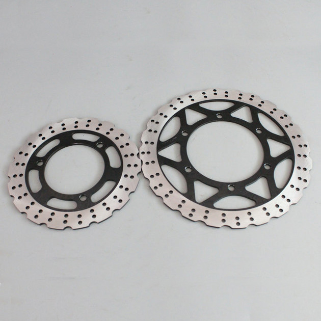2 pieces motorcycle Front Disc Brake Rotor Scooter Front Rear Disc Brake Rotor for KAWASAKI NINJA250 EX25R 2008 2009 2010 - 2012 motorcycle new one piece front brake rotor disc for kawasaki ninja250 2013 2014 2015 [pa402]