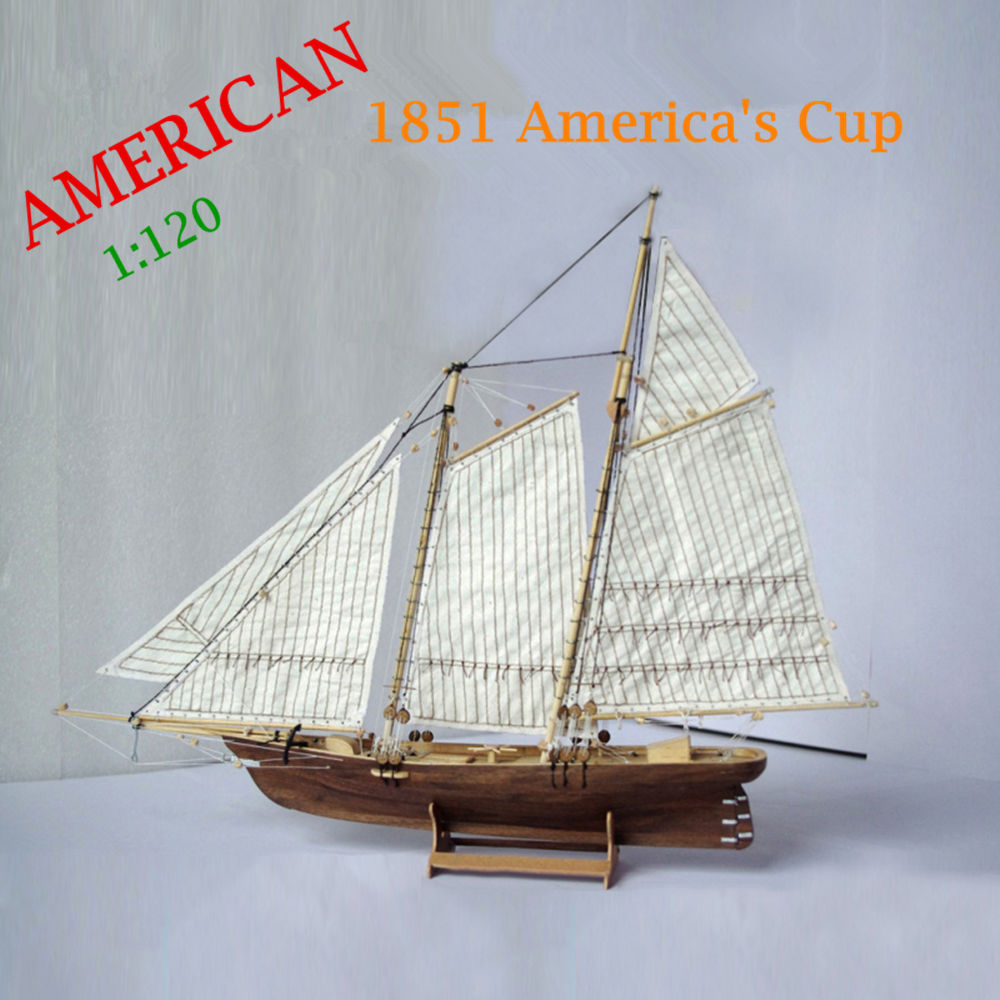 Us 11 99 Wooden Scale Model Ship 1 120 Assembly Model Kits Classical Wooden Sailing Boat Model American Scale Wooden Model Ship Kits In Model