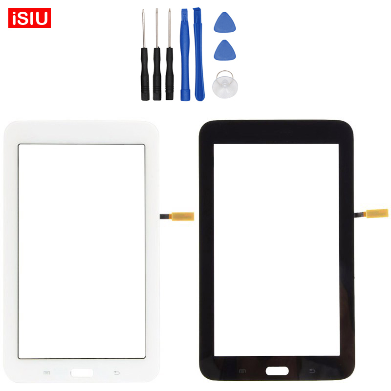 7.0 inch Tab3 For Samsung Galaxy Tab 3 Lite T110 / SM-T110 New LCD Touch Screen Lens Glass Outer Front Panel + Tools