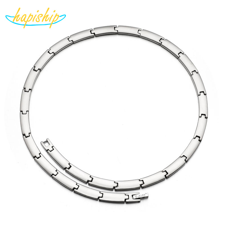 Hapiship 2018 New Men/Women 270 Germanium Energy 316L Stainless Steel Therapy Power Necklace Birthday Gift TG0 270 Drop Shipping