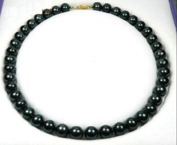 FREE SHIPPING>>@> Huge 1812- natural Tahitian black round pearl necklaceFREE SHIPPING>>@> Huge 1812- natural Tahitian black round pearl necklace