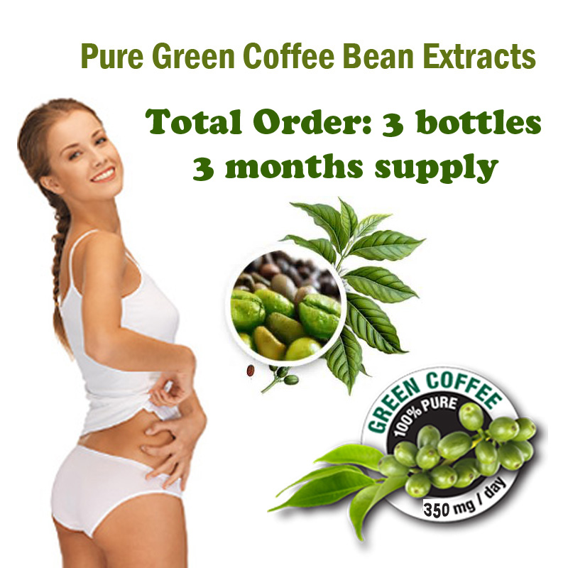(3 bottles) Green coffee bean extract diet weight loss product women slimming Coffee bean extracts lose weight product