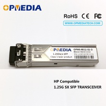 HP Compatible 1000BASE-SX,1.25G SFP transceiver,850nm 550m, optical module,LC connector,MMF,DDM,GLC-SX-MM,10pcs/lot цена