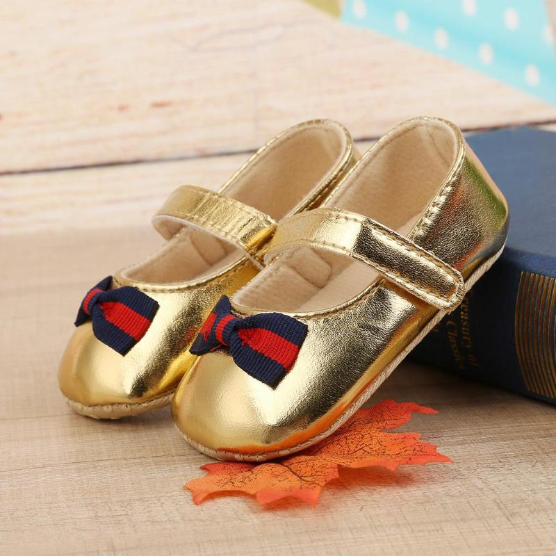 2018 New PU Leather Baby Shoes Newborn Girls Moccasins Soft Bottom PU Leather Toddler Bowknot baby First Walkers leather Shoes