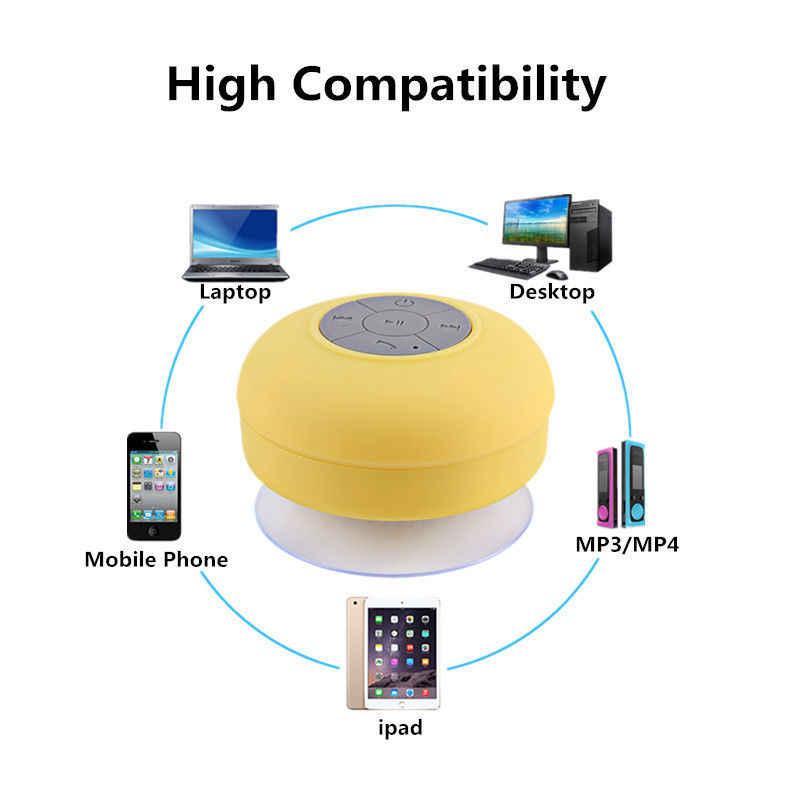 ซับวูฟเฟอร์แบบพกพาลำโพงบลูทูธไร้สายรถแฮนด์ฟรีรับฟังเพลงสำหรับ MIC สำหรับ iPhone Samsung