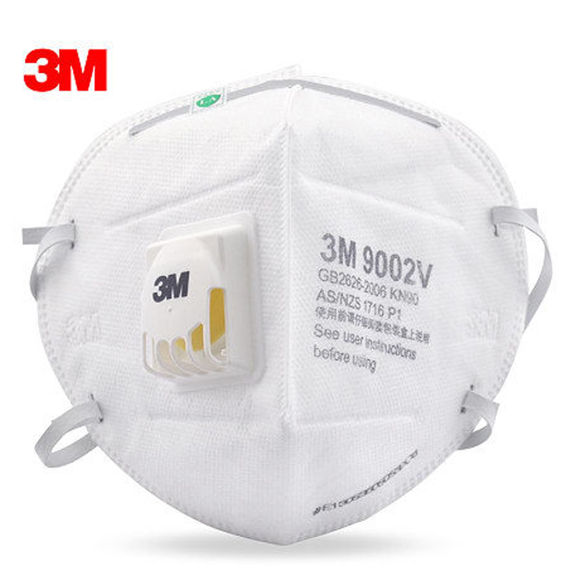 5pcs 3M 9002V Anti dust PM 2.5 Mask Anti influenza Breathing valve non woven fabric folding filter mask Adult KN90  safety masks 3m 9502 dust masks n95 anti particulate matter anti pm2 5 smog protective industrial dust influenza virus mask h012912