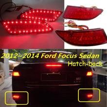 Автомобильный задний фонарь bumer для Ford Focus 2012 ~, задний фонарь, стоп-сигнал, светодиодные автомобильные аксессуары, задний фонарь для фокусир...