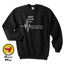 Keep Calm and...Not That Funny EKG Heart Rate Paramedic Nurse Crewneck Sweatshirt Unisex More Colors XS - 2XL