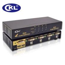 Darmowa Wysyłka Black Metal USB KVM DVI Przełącznik CKL 4 Port Wsparcie Audio Auto Scan Klawiatura Mysz Switcher Wideo 1080 P CKL-94D
