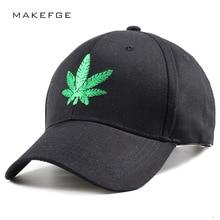 2018 sombrero hombres gorra de béisbol Snapback moda cáñamo hojas verdes  bordado casquillo verde Camo sombrero del algodón del s. 191fbcdfa6a