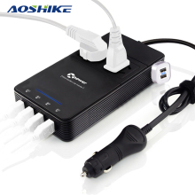 AOSHIKE Car Inverter 12V 24V to 220V Auto Power Inverter Voltage Converter Purify Car Air 4 USB Car Charger 2 Triangle Socket