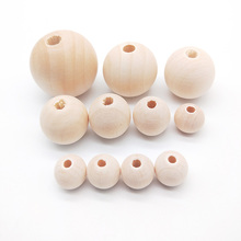 DIY 10-100PCS Natural Ball Round Spacer Wooden Beads Eco-Friendly Color Wood Lead-Free Balls Perle En Bois