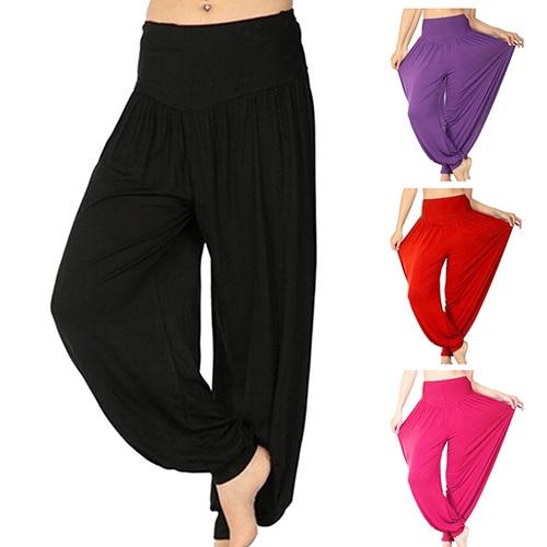 Women's Fashion Dance Stretchy Loose Harem Pants Knickerbockers
