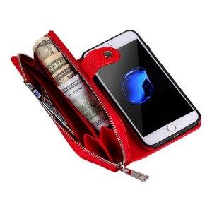Image 4 - Съемный кожаный чехол кошелек на молнии для Samsung Galaxy S10 S10E S9 S8 S7 S6 Edge Plus Note 9 8 10 Plus Многофункциональный чехол