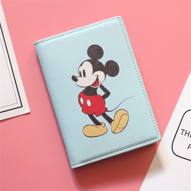 Cartoon Mickey Passport Covers Travel Accessories Creative PU Leather ID Bank Card Bag Girls And Boys Passport Holder Cute Gifts
