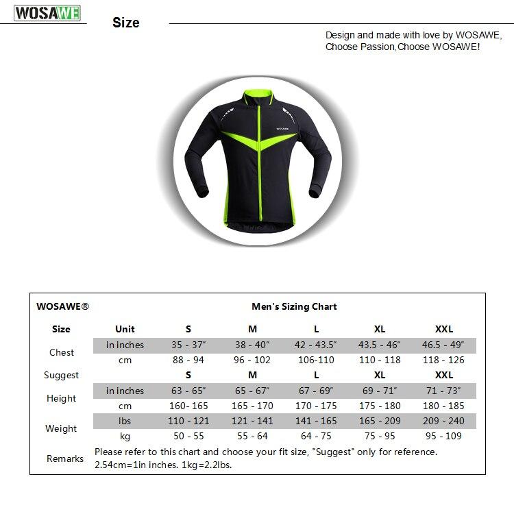 WOSAWE Winter Windproof Motorcycle Jackets Men Cycle Sportswear Motorbike Water Resistance Windbreaker Reflective Racing Coat in Jackets from Automobiles Motorcycles