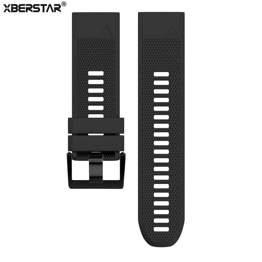 Garmin Fenix5x 5X için silikon Bilek Bandı Saat Kayışı Garmin Quatix 3 için Garmin D2 için 3 Deniz GPS İzle Yedek Saat Kayışı