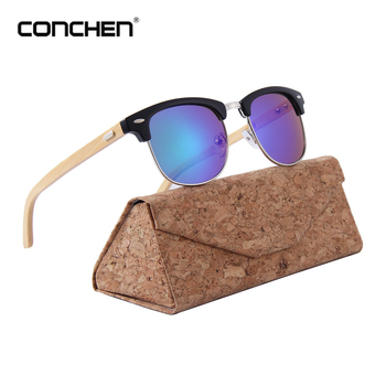 CONCHEN высококачественные брендовые дизайнерские полуоправы Солнцезащитные очки Модные металлические женские Солнцезащитные очки женские ... >>