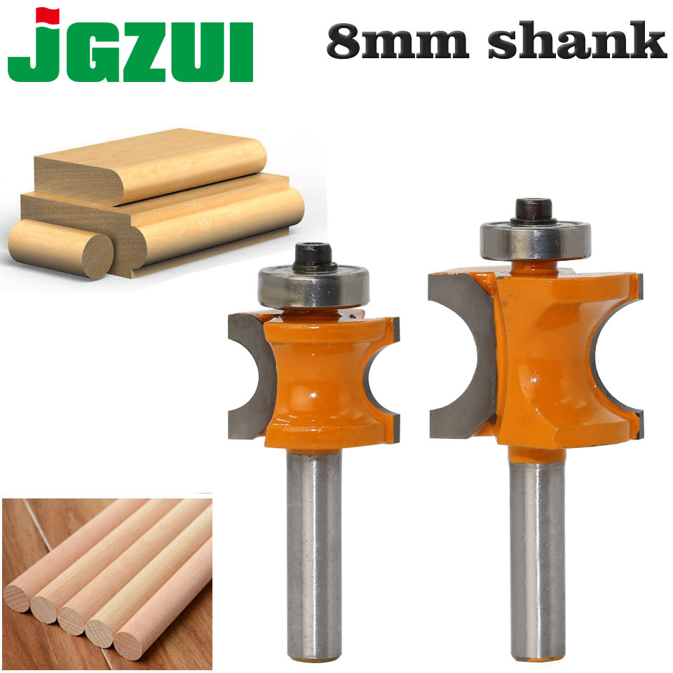 1Pc Bullnose Router Bit Set C3 Carbide Tipped 8mm
