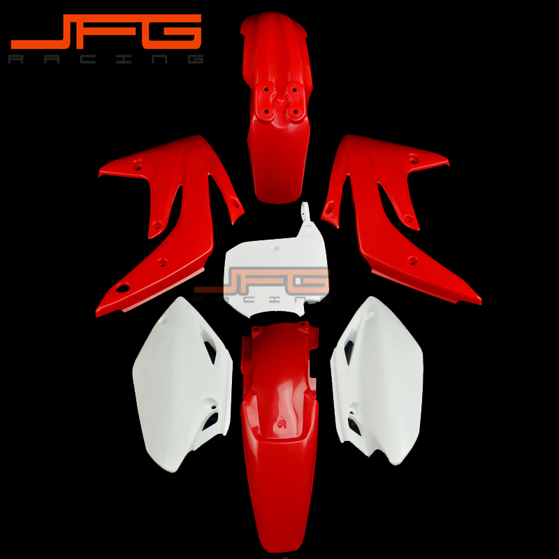 Red Plastic Kit Fender Farings For CRF 150R CRF150R 2007 -2013 Pit Bike Dirt Bike Motorcycle front plastic number plate fender cover fairing for honda crf100 crf80 crf70 xr100 xr80 xr70 style dirt pit bike