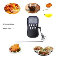 Digital BBQ Food Probe Meat Kitchen Oven Barbecue Thermometer Temperature Sensor With Timer Alarm Clock Cooking