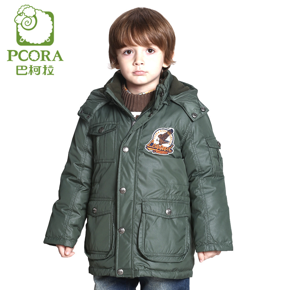 PCORA Kids Winter Coat Boys Long Down Outerwear Warm Thick Kids Hooded Long Down Coat High Quality Brand Children Clothing Batik high quality boys thick down jacket 2017 winter new children warm detachable cap coat clothing kids hooded down outerwear