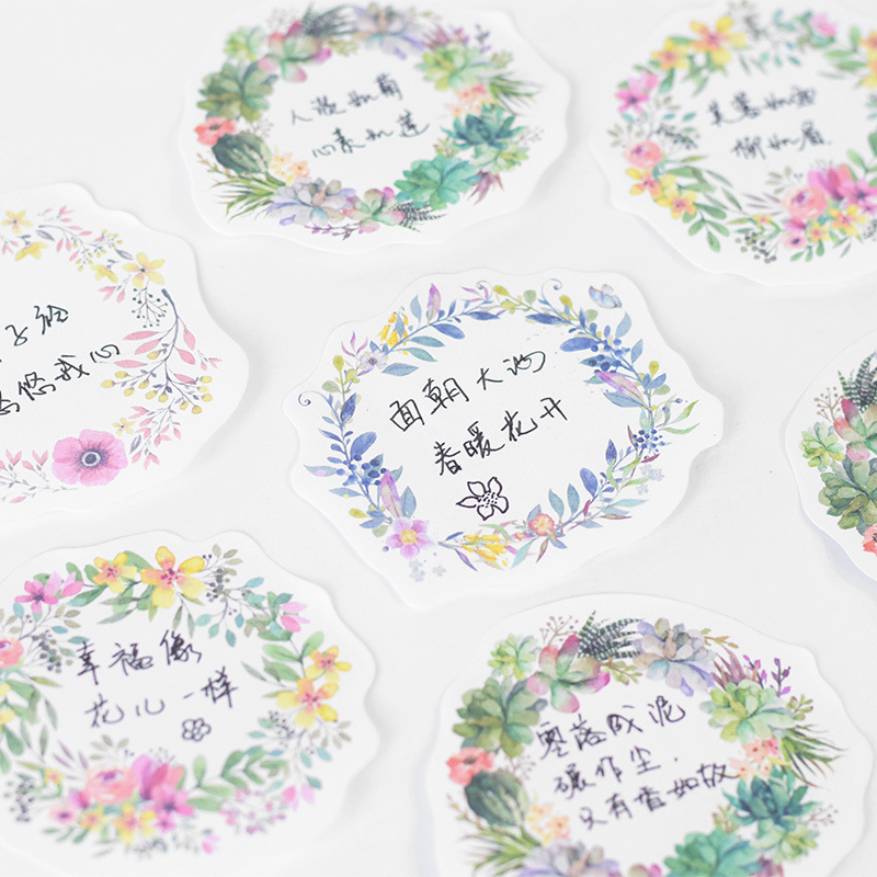 Kawaii Flower Memo Pad Writing Pads Cute Garland Post It Note Sticky Paper For Kids School Supplies Free Shipping 3820
