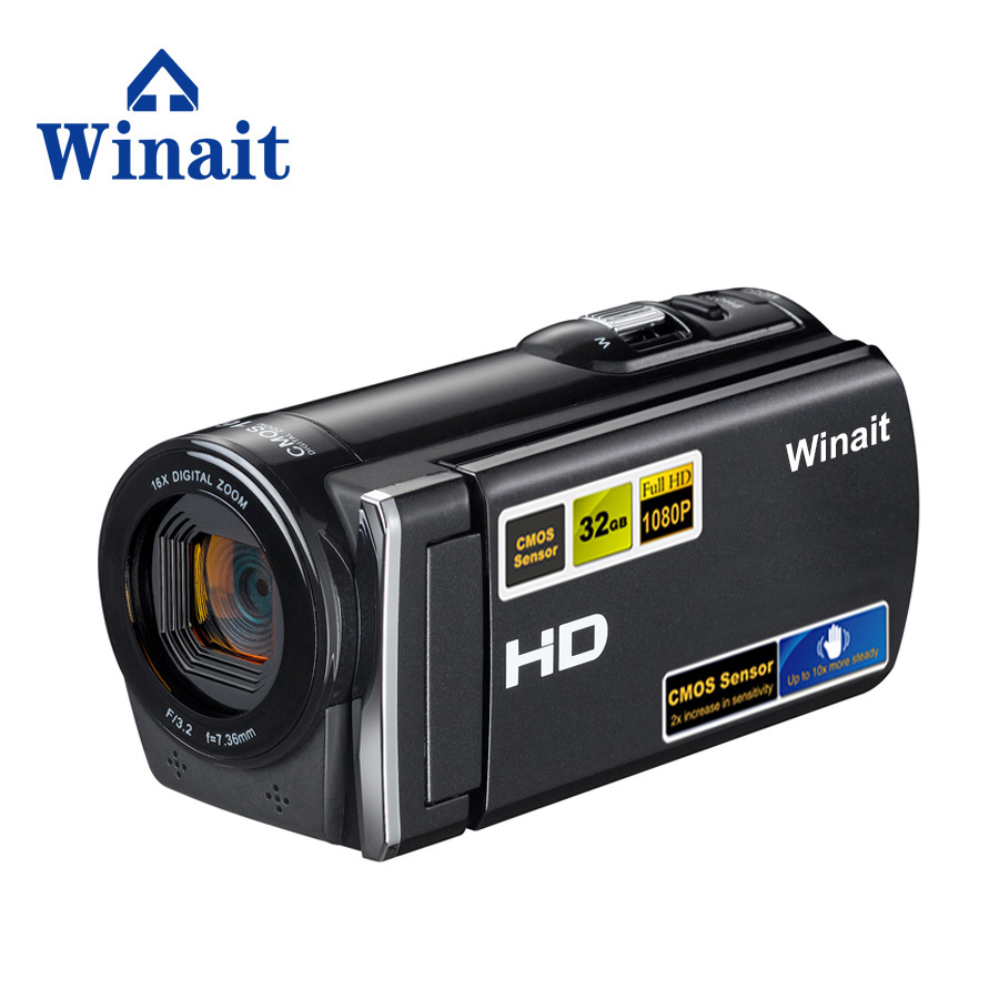 Winait High Quality FULL HD 1080P Digital Video Camera 16MP Camera Resolution With lithium battery Digtial Zoom HDV-601S image