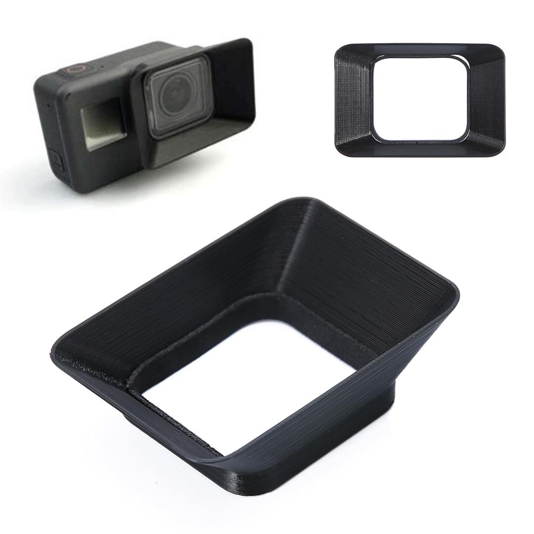 New Camera Accessories Lens Hood Black 3D Printed Lens Sun Shade Cap Fit For GoPro Hero 5 Cameras